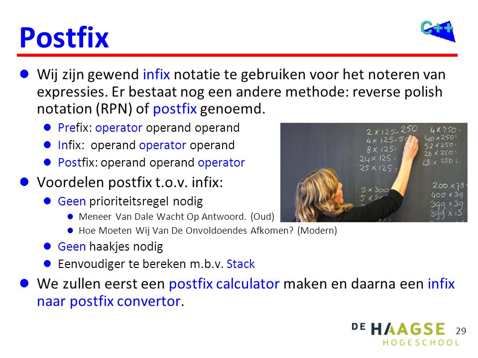 Postfix calculator (1 van 2)