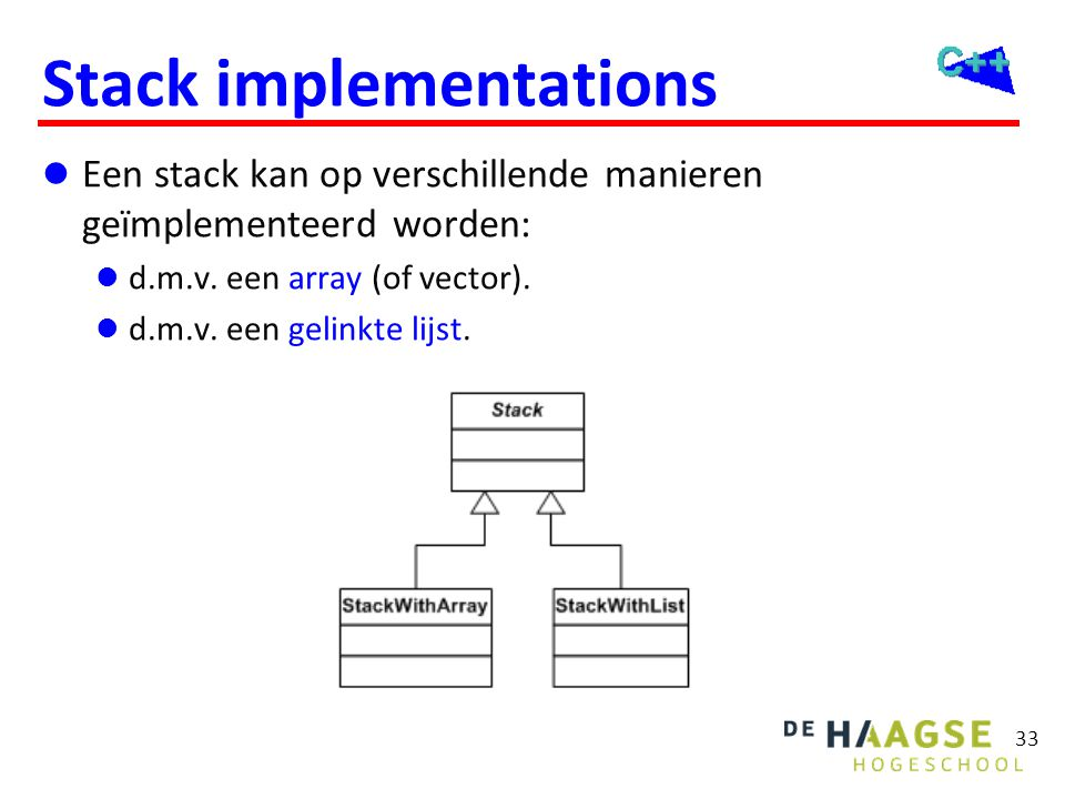 Stack met array (1 van 4) #ifndef _TISD_Bd_StackWithArray_