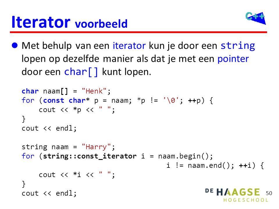 Iterator voorbeeld C++11
