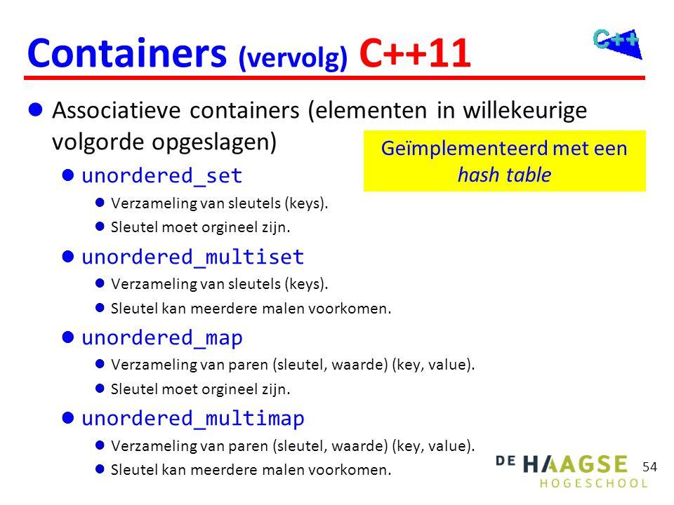 Containers De containers regelen hun eigen geheugenbeheer.