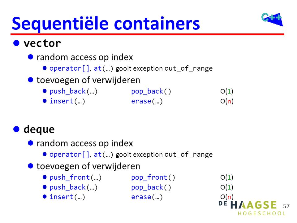 Sequentiële containers
