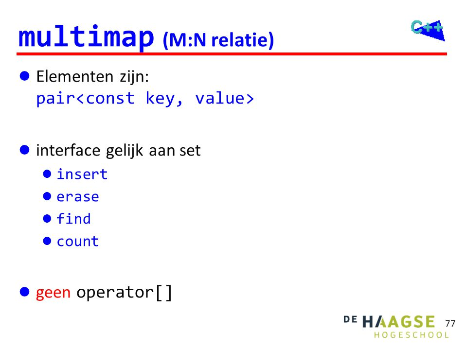 map voorbeeld #include <iostream> #include <fstream>