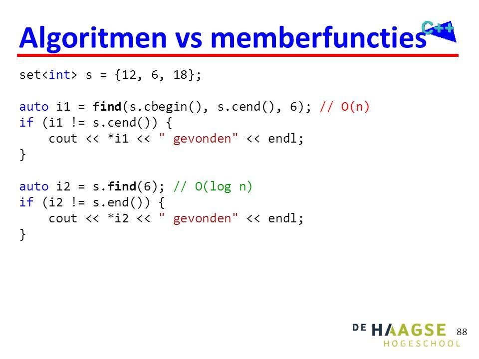 Algoritmen Zoeken van elementen Tellen van elementen