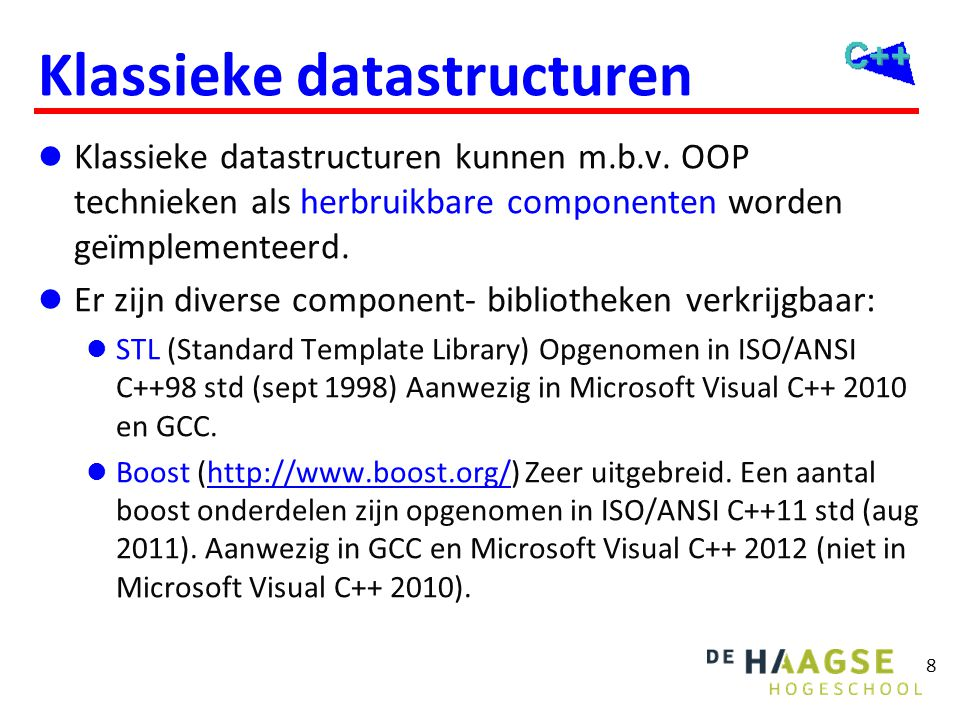 Datastructuren Ding om data gestructureerd in op te slaan.