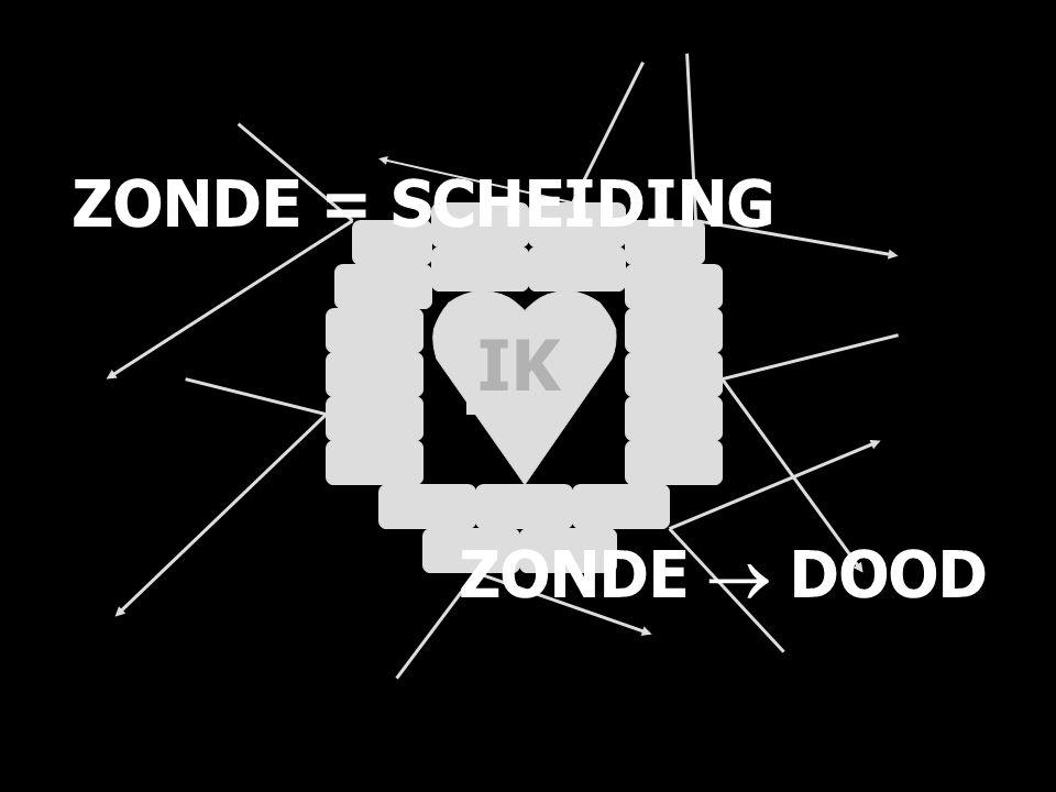 ZONDE = SCHEIDING IK ZONDE  DOOD