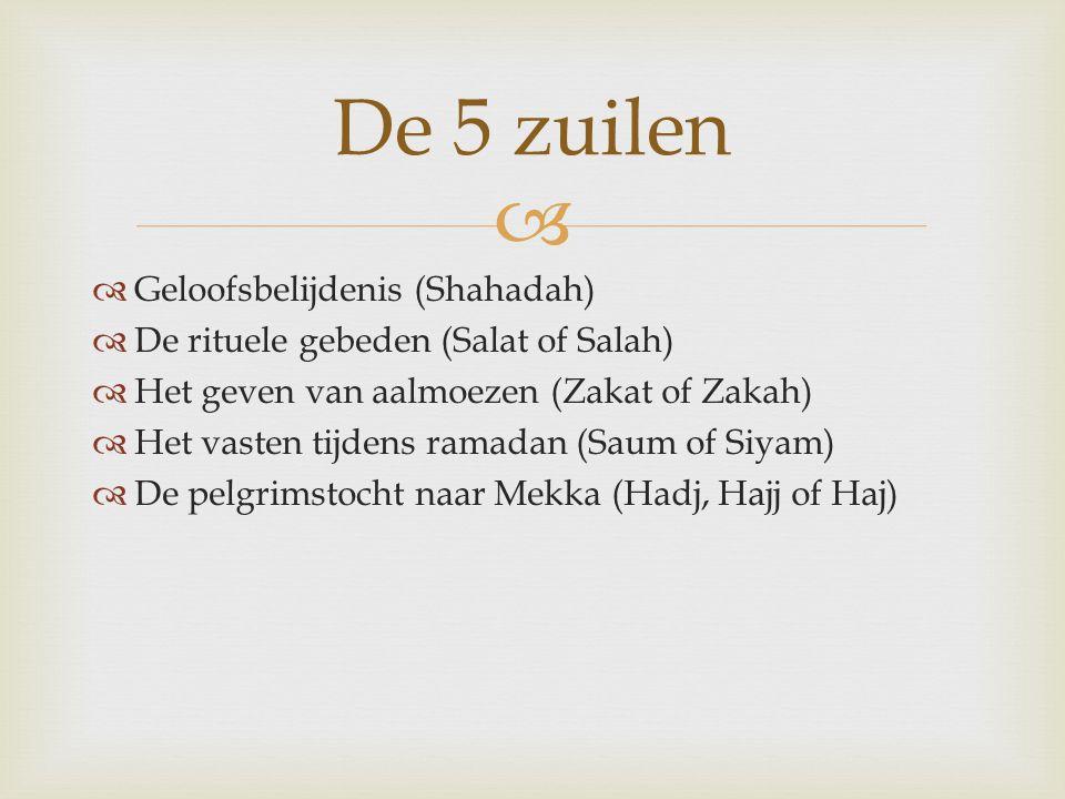 De 5 zuilen Geloofsbelijdenis (Shahadah)