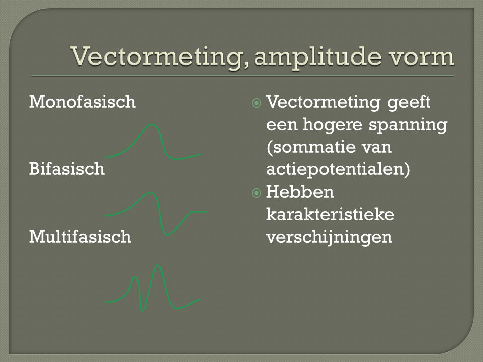 Vectormeting, amplitude vorm