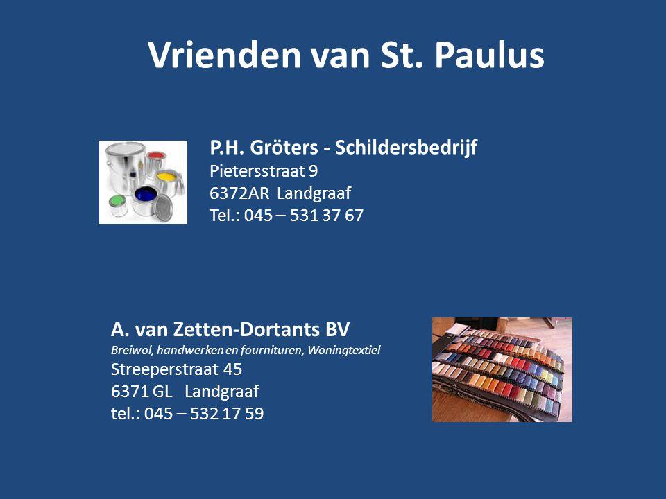 Vrienden van St. Paulus P.H. Gröters - Schildersbedrijf