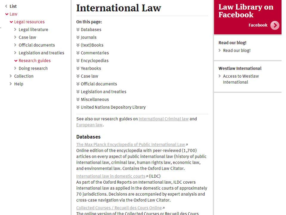 Seminar Juridische Informatievaardigheden