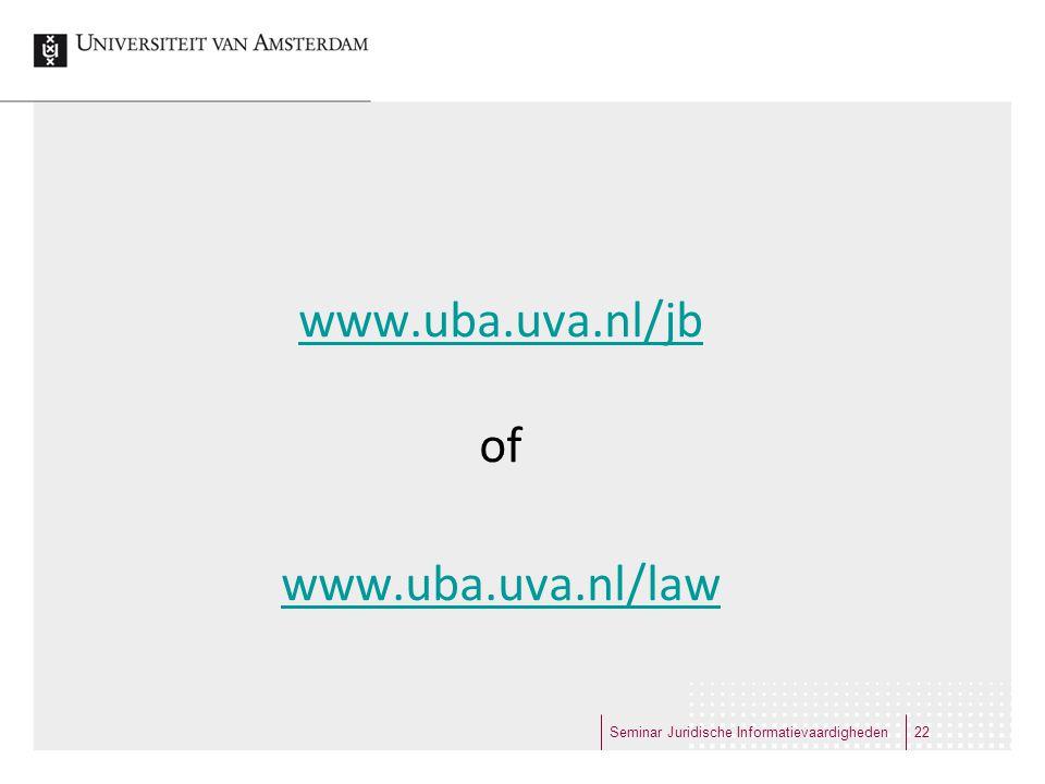 www.uba.uva.nl/jb of www.uba.uva.nl/law