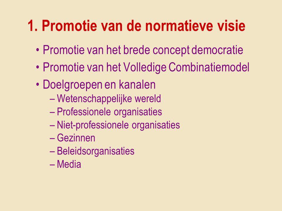 1. Promotie van de normatieve visie