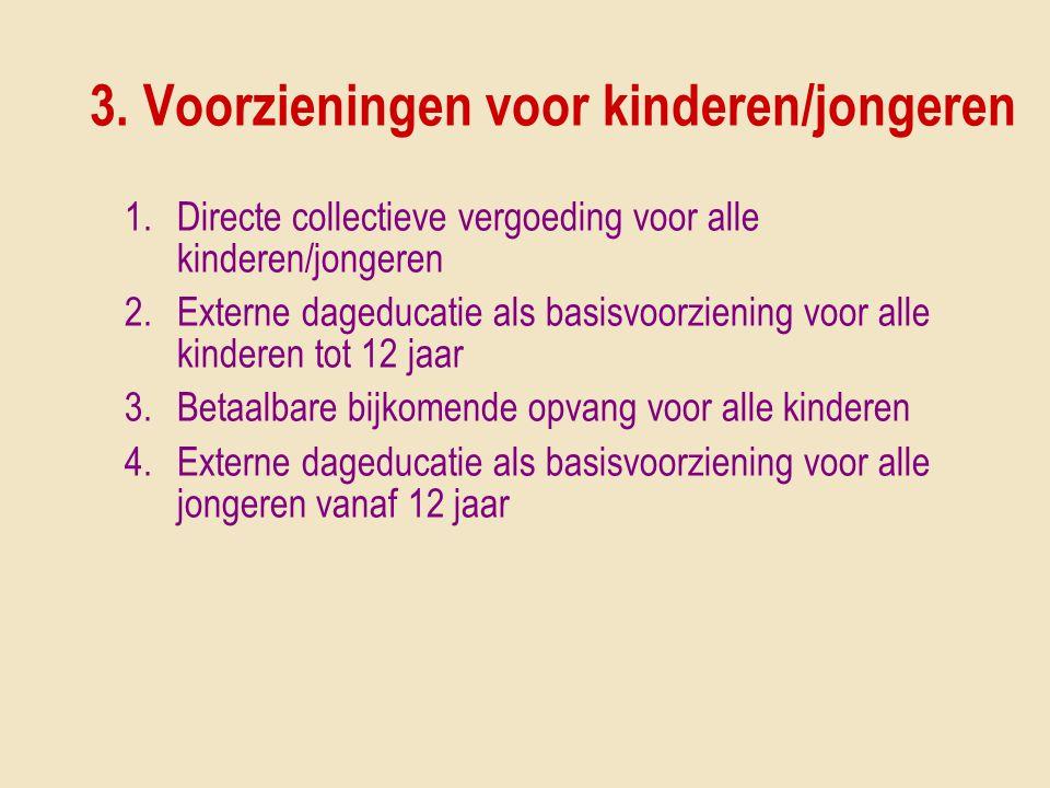 3. Voorzieningen voor kinderen/jongeren
