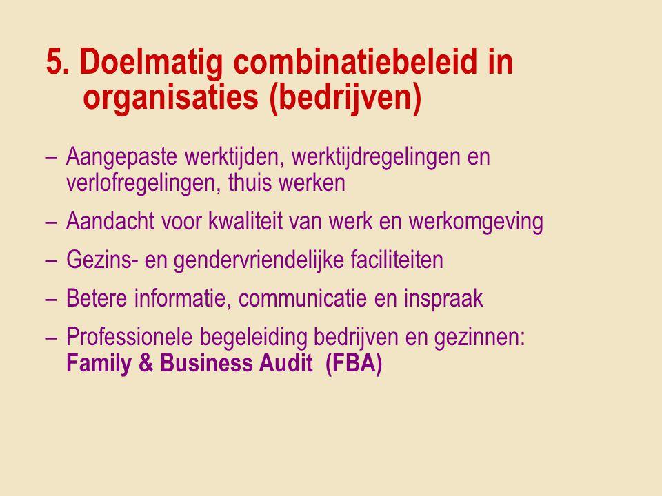 5. Doelmatig combinatiebeleid in organisaties (bedrijven)