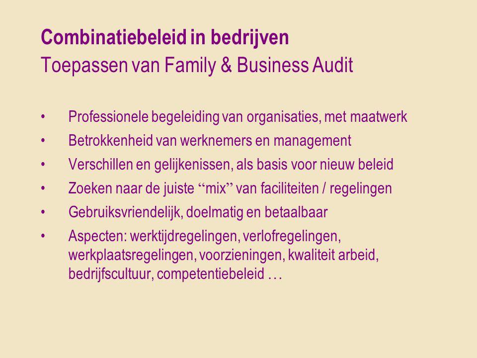 Combinatiebeleid in bedrijven Toepassen van Family & Business Audit