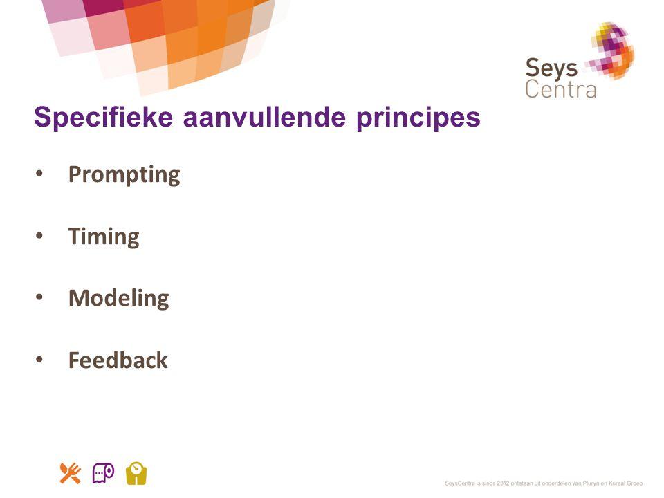 Specifieke aanvullende principes