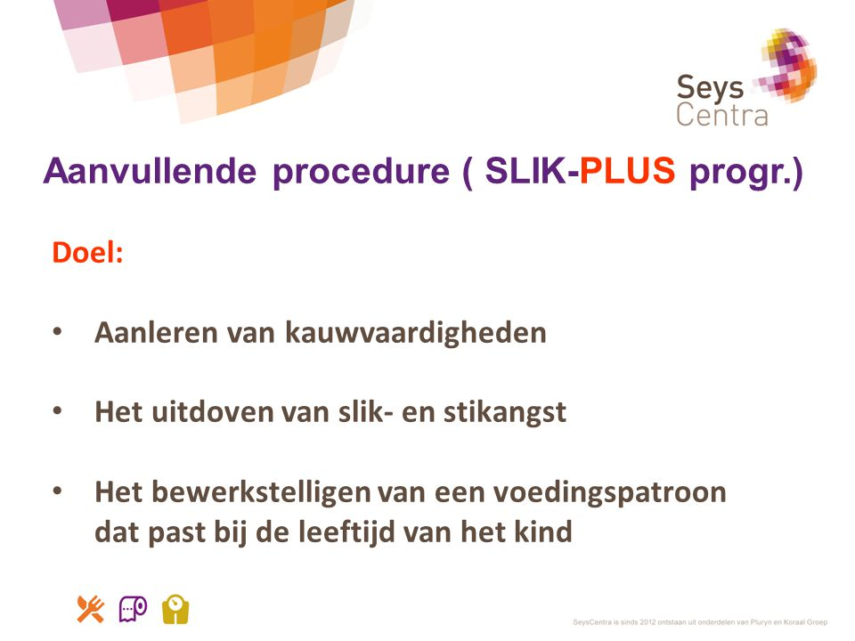 Aanvullende procedure ( SLIK-PLUS progr.)