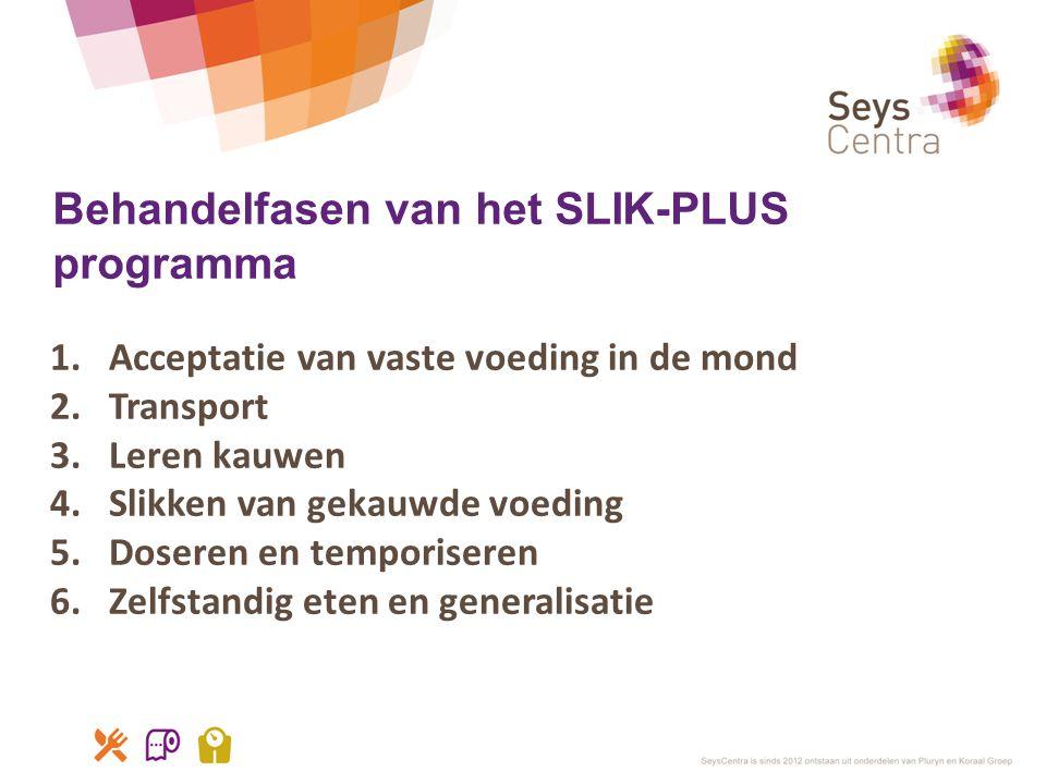 Behandelfasen van het SLIK-PLUS programma
