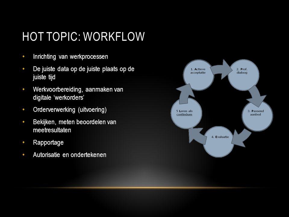 Hot topic: Workflow Inrichting van werkprocessen