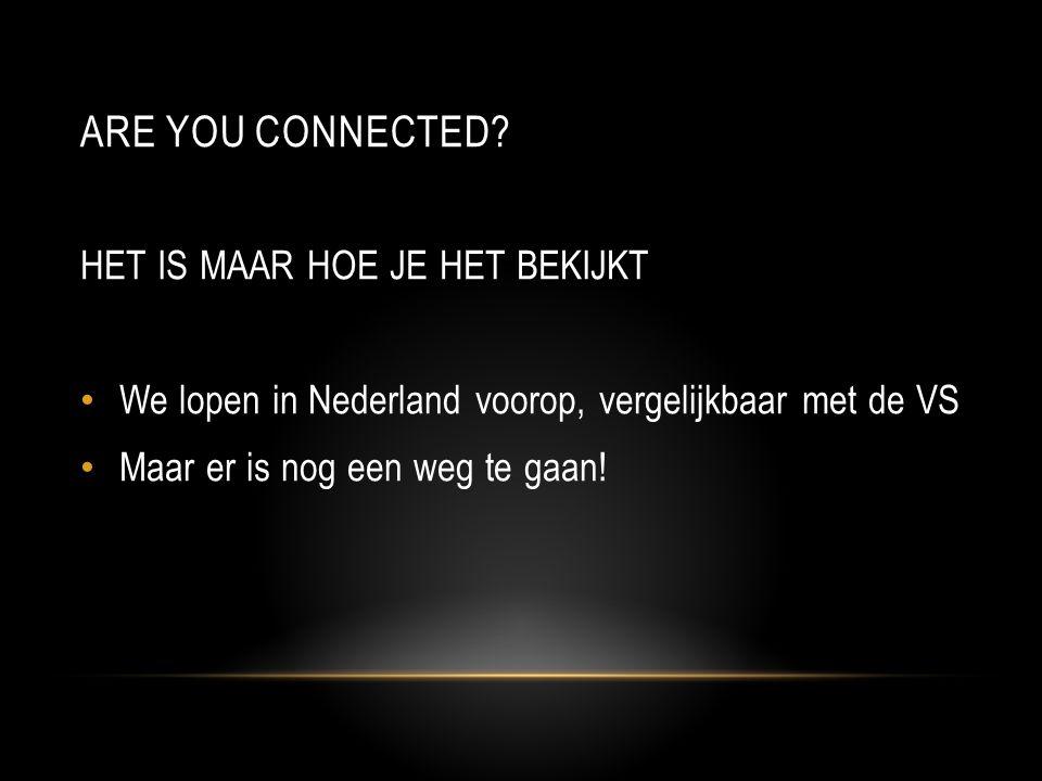 Are you connected HET IS MAAR HOE JE HET BEKIJKT