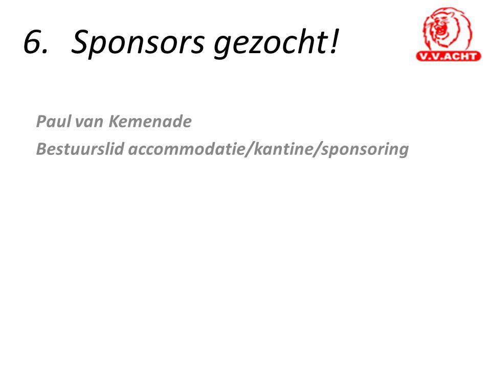 Paul van Kemenade Bestuurslid accommodatie/kantine/sponsoring