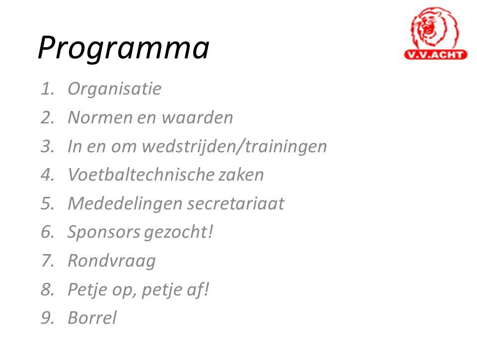 Programma Organisatie Normen en waarden