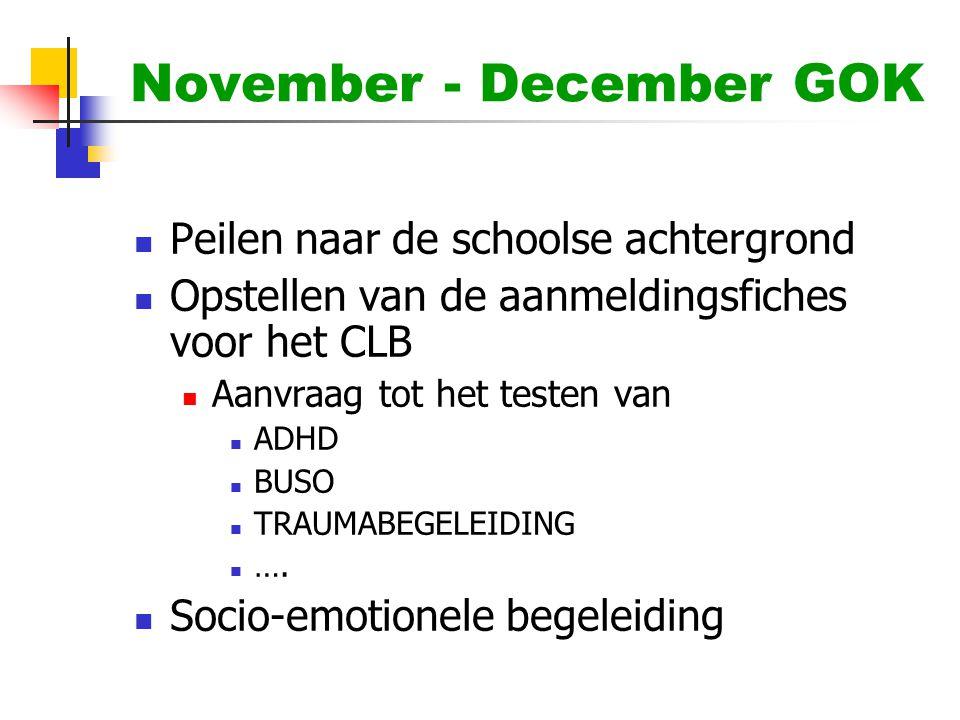November - December GOK