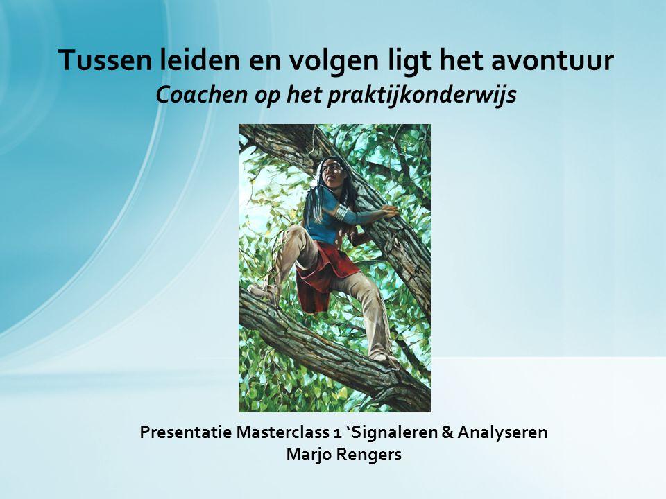 Presentatie Masterclass 1 'Signaleren & Analyseren Marjo Rengers