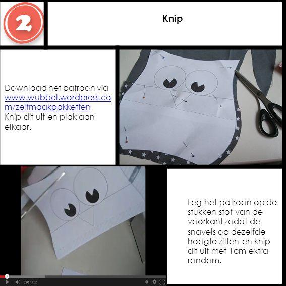 Knip Download het patroon via www.wubbel.wordpress.com/zelfmaakpakketten Knip dit uit en plak aan elkaar.