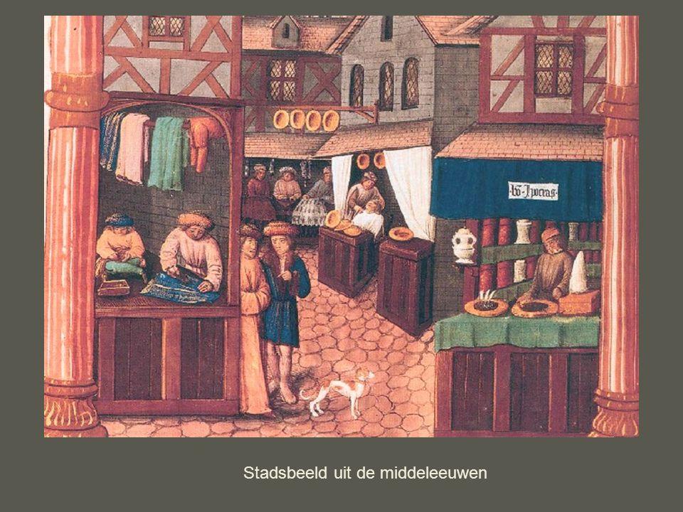 Stadsbeeld uit de middeleeuwen