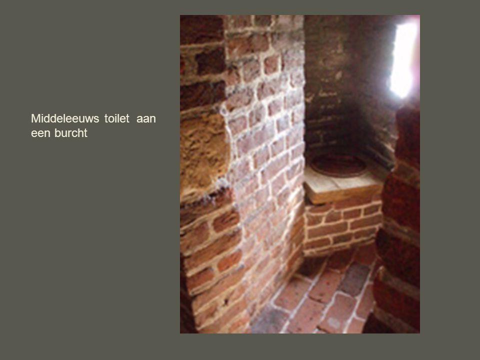 Middeleeuws toilet aan een burcht