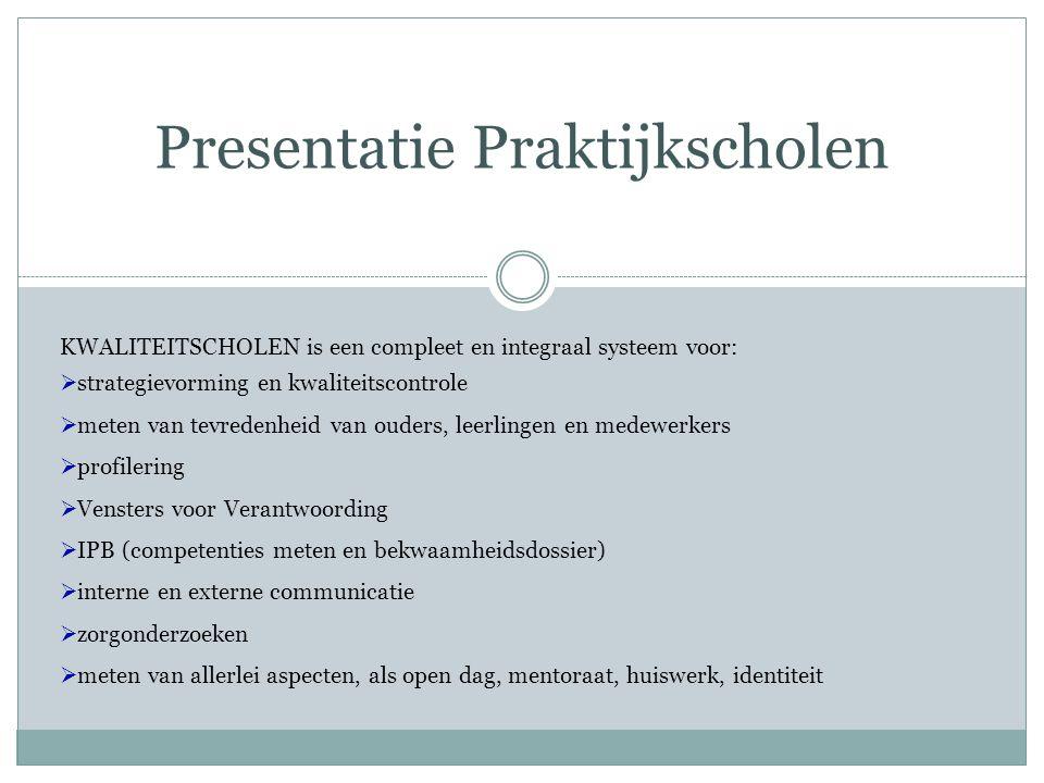 Presentatie Praktijkscholen