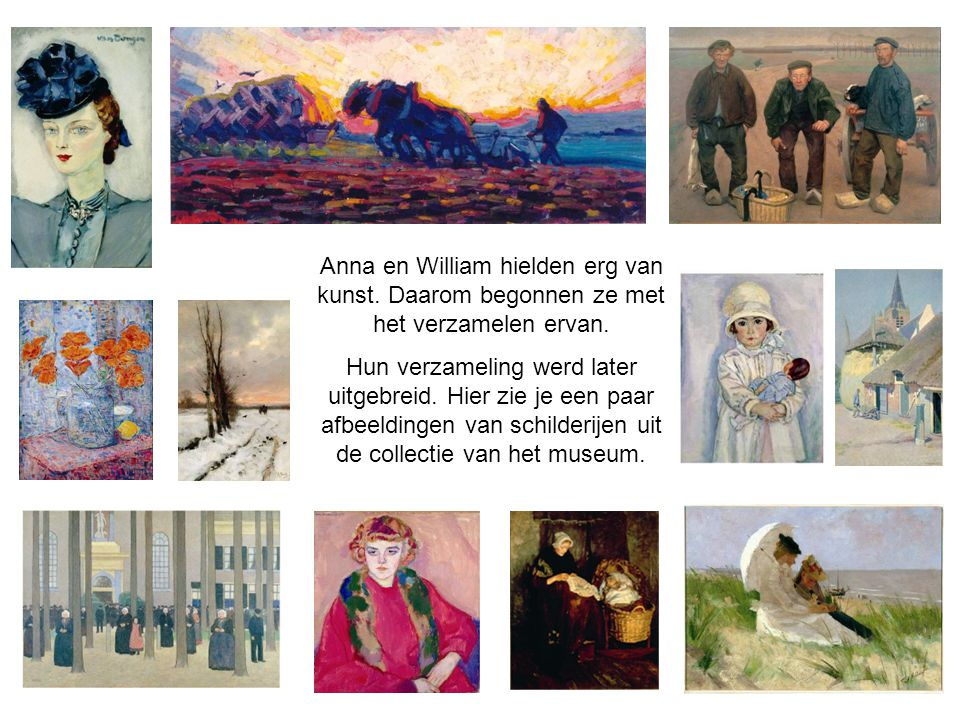 Anna en William hielden erg van kunst