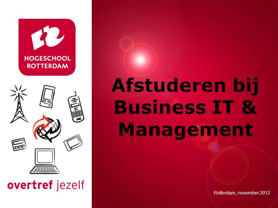 Afstuderen bij Business IT & Management