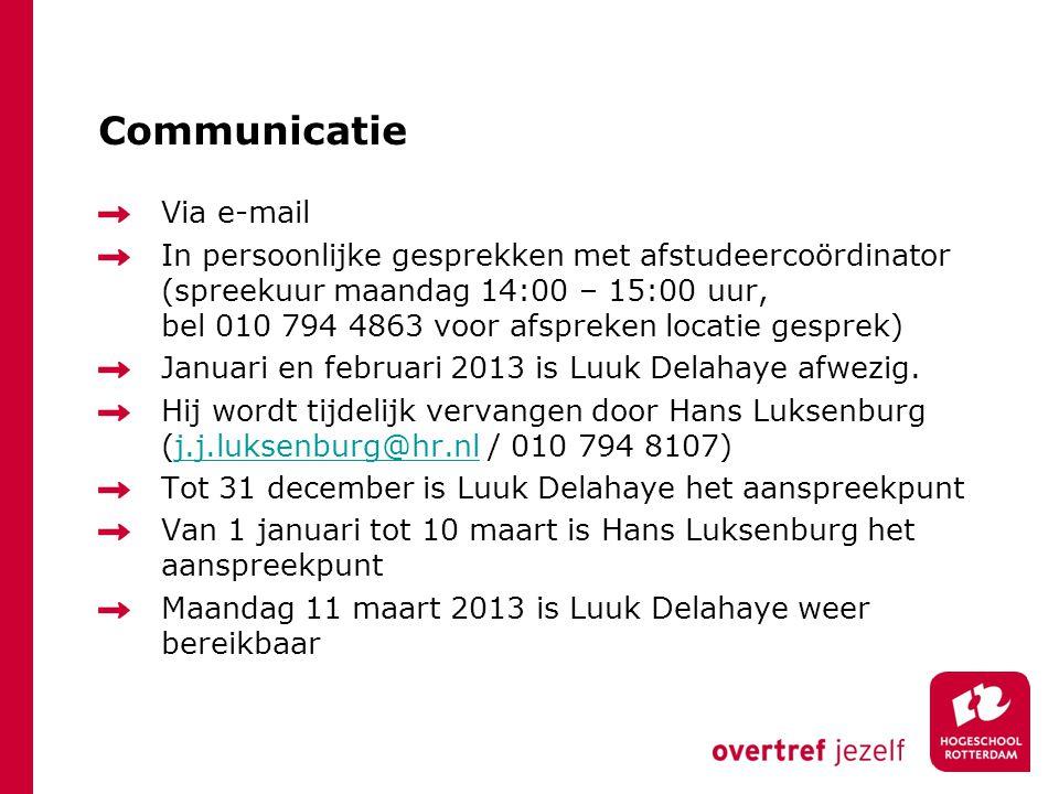 Communicatie Via e-mail