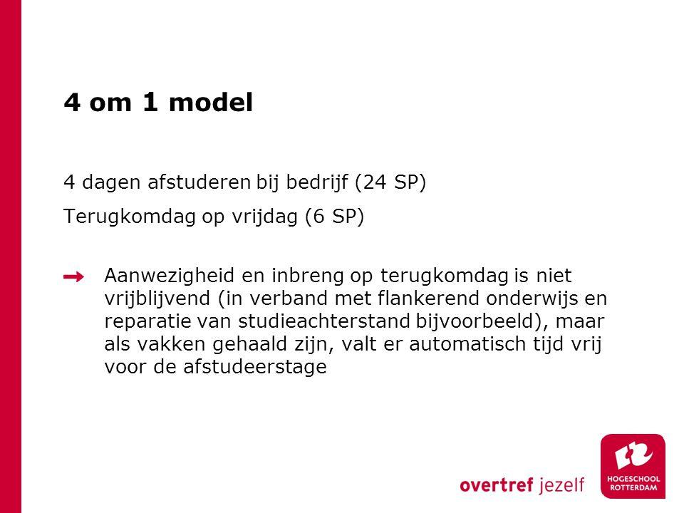 4 om 1 model 4 dagen afstuderen bij bedrijf (24 SP)