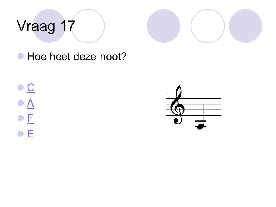 Vraag 17 Hoe heet deze noot C A F E
