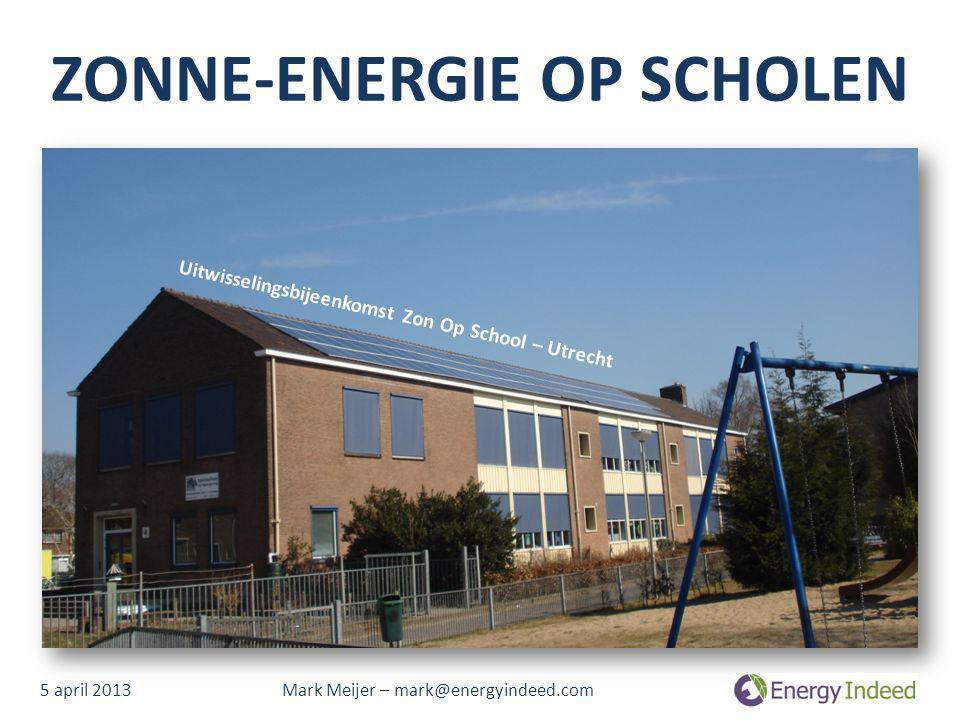 ZONNE-ENERGIE OP SCHOLEN