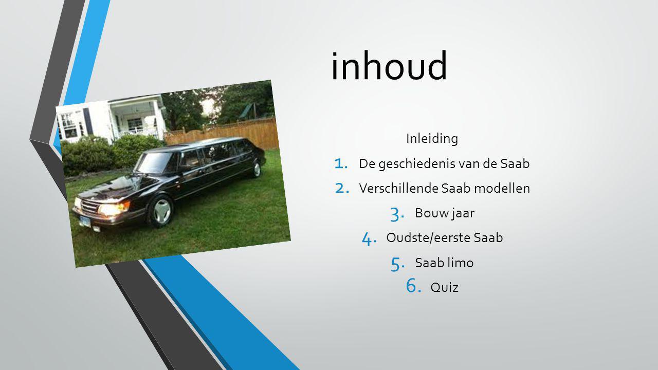 inhoud Inleiding De geschiedenis van de Saab
