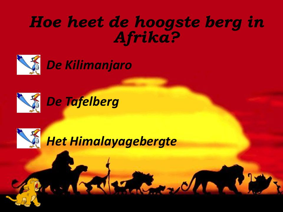 Hoe heet de hoogste berg in Afrika