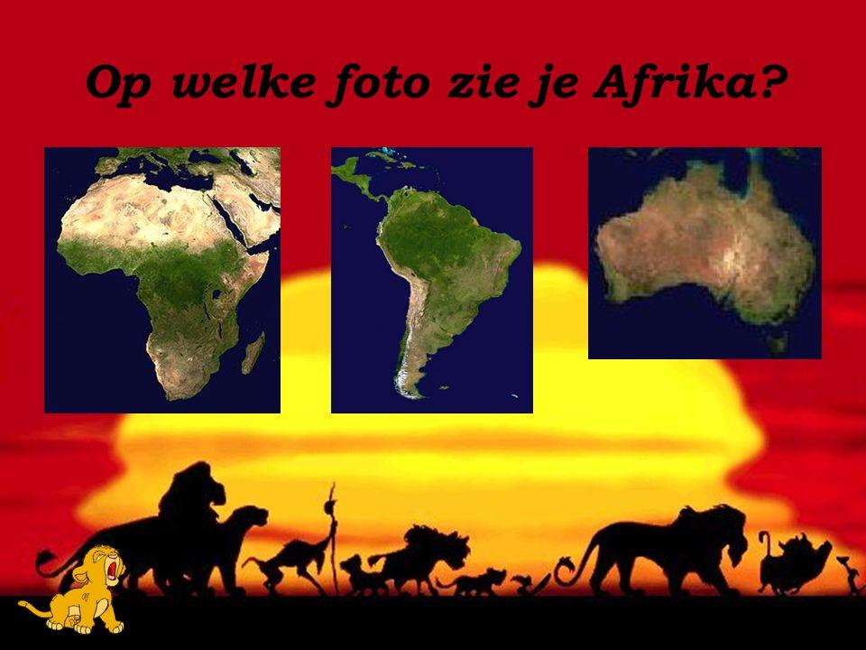 Op welke foto zie je Afrika