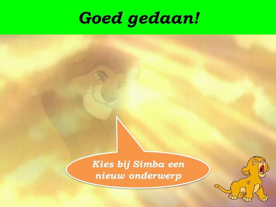 Kies bij Simba een nieuw onderwerp