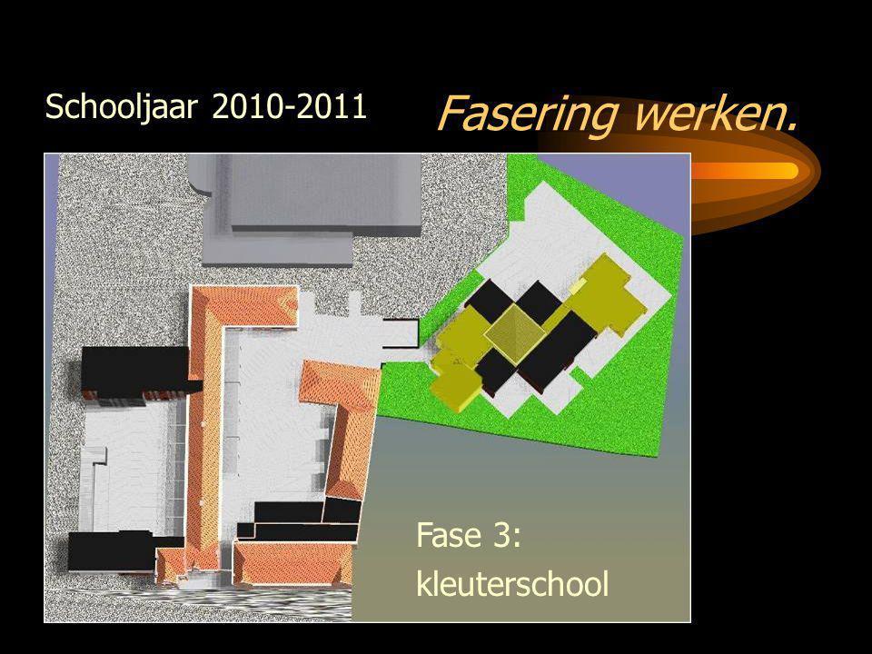Fasering werken. Schooljaar 2010-2011 Fase 3: kleuterschool