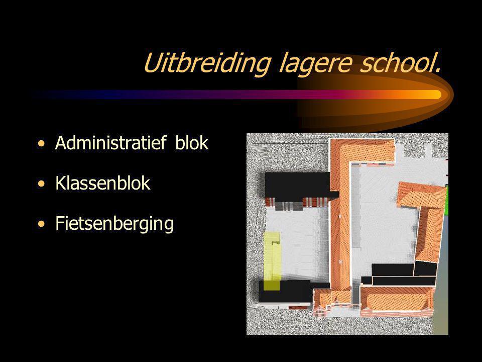 Uitbreiding lagere school.