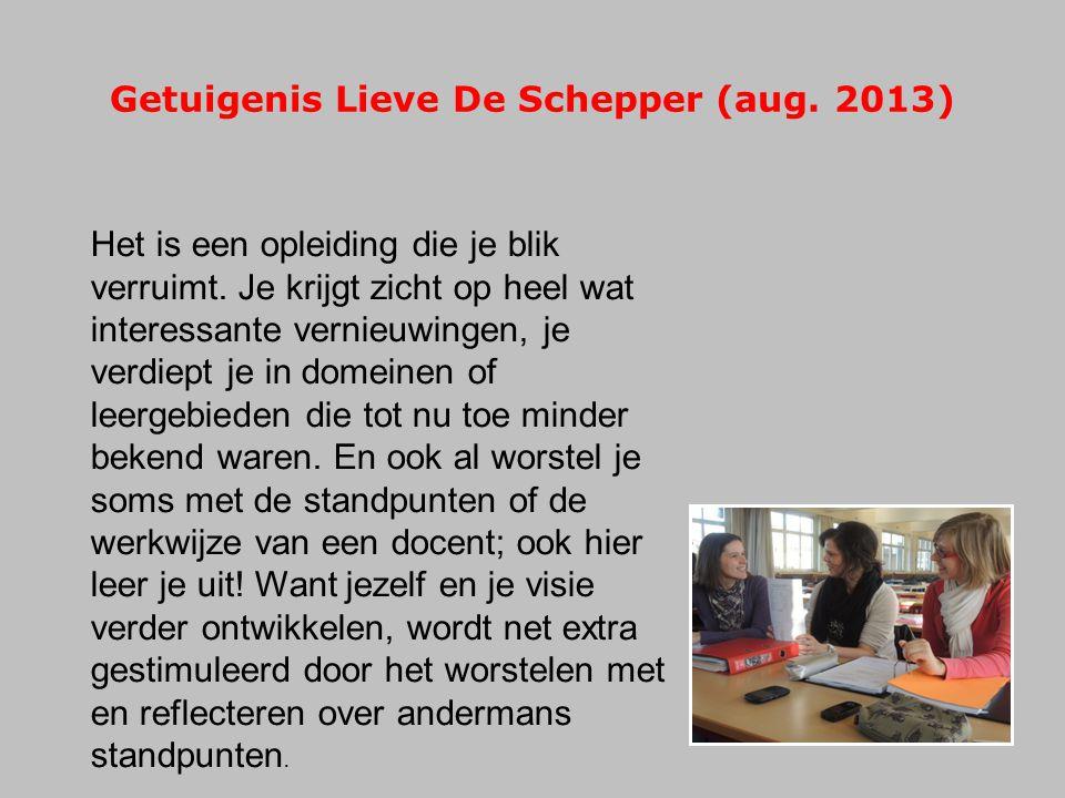 Getuigenis Lieve De Schepper (aug. 2013)