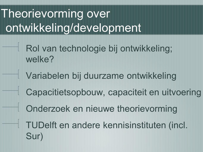 Theorievorming over ontwikkeling/development
