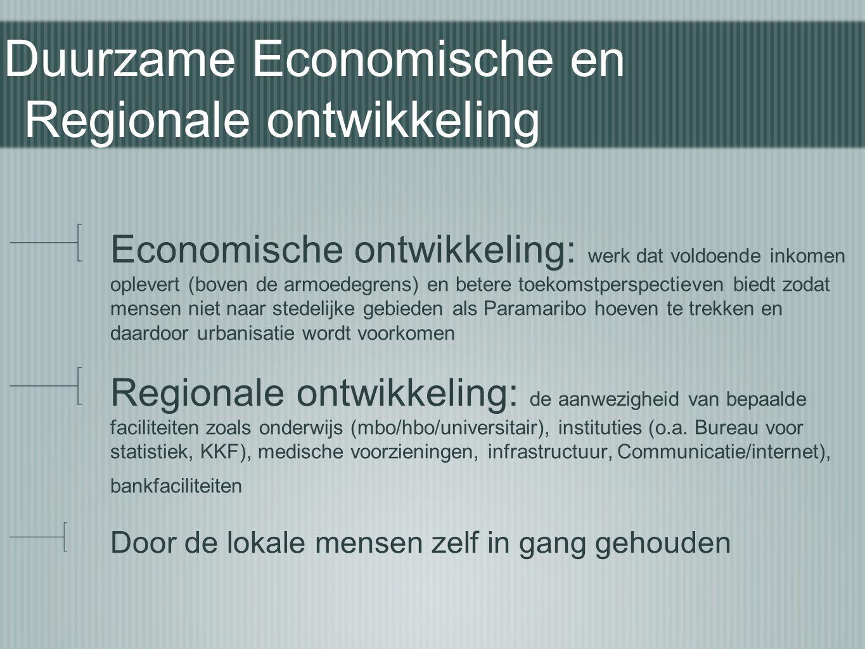 Duurzame Economische en Regionale ontwikkeling
