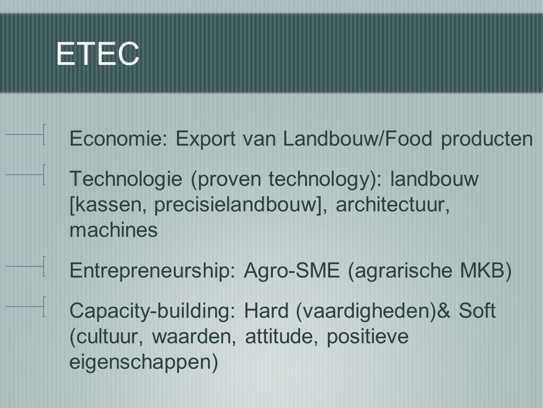 ETEC Economie: Export van Landbouw/Food producten