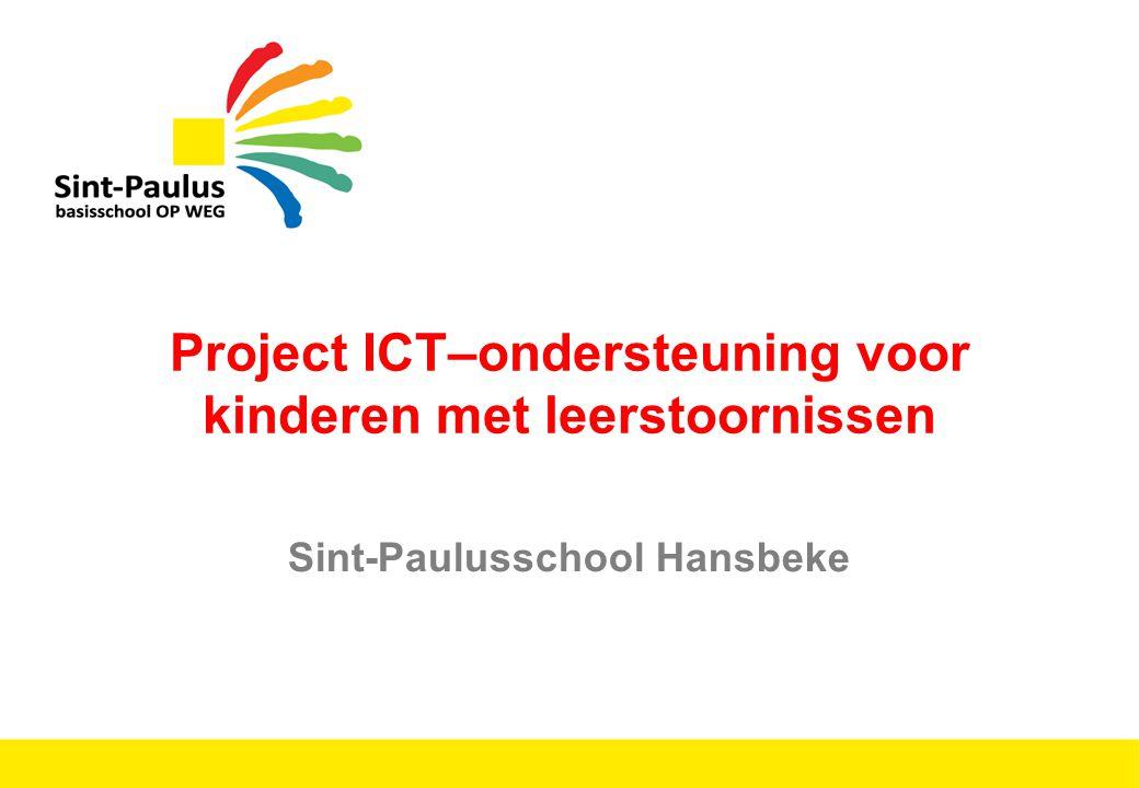 Project ICT–ondersteuning voor kinderen met leerstoornissen