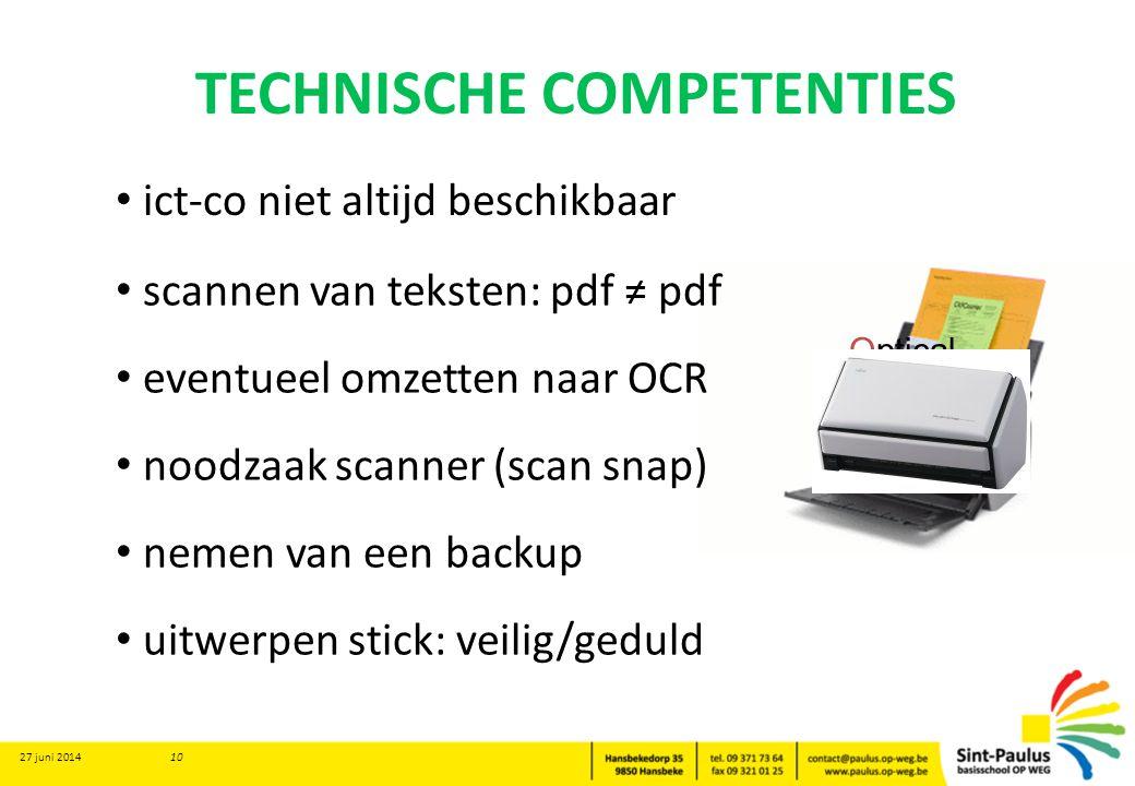 TECHNISCHE COMPETENTIES