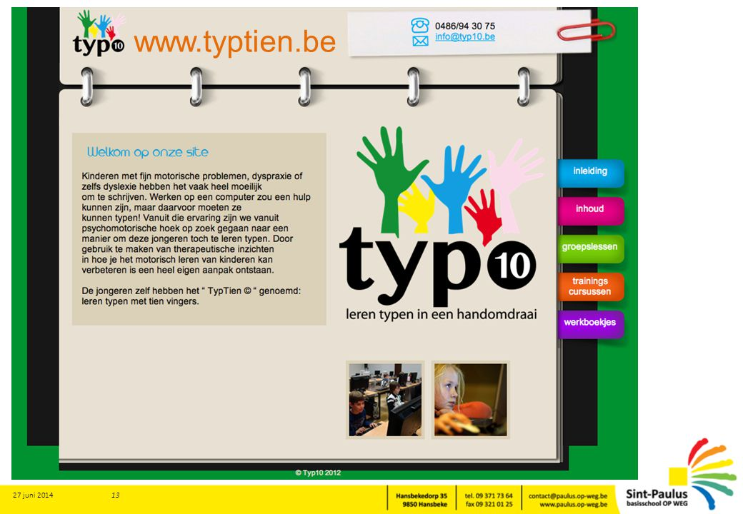 www.typtien.be 3 april 2017